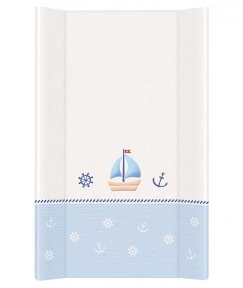 Nadstawka krótka bez zagłówka przewijak 70x50 cm Ceba Baby_Marynarski biało niebieski