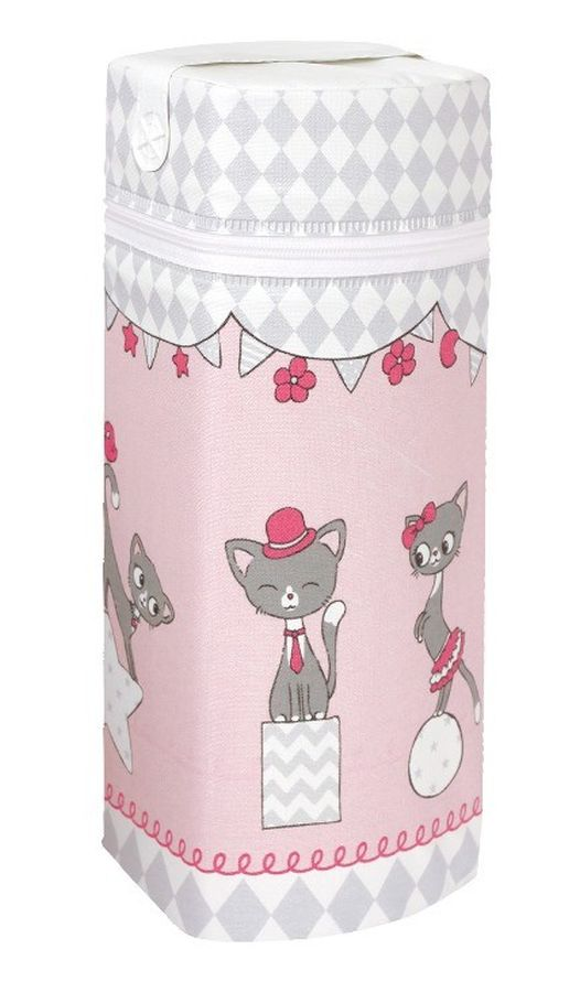 Termoopakowanie Jumbo Ceba Baby na wszystkie rodzaje butelek Kotki różowy