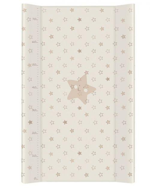 Nadstawka krótka bez zagłówka przewijak 70x50 cm Ceba Baby Gwiazdki beżowe