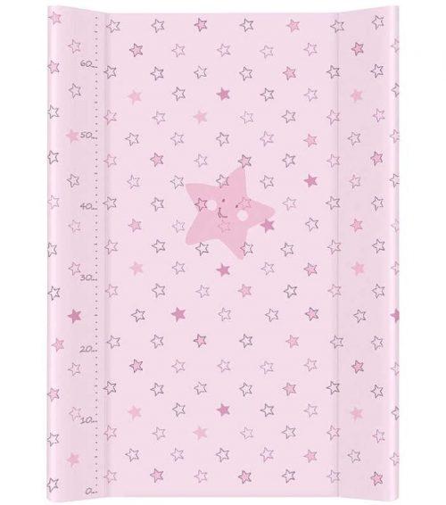 Nadstawka krótka bez zagłówka przewijak 70x50 cm Ceba Baby Gwiazdki różowe