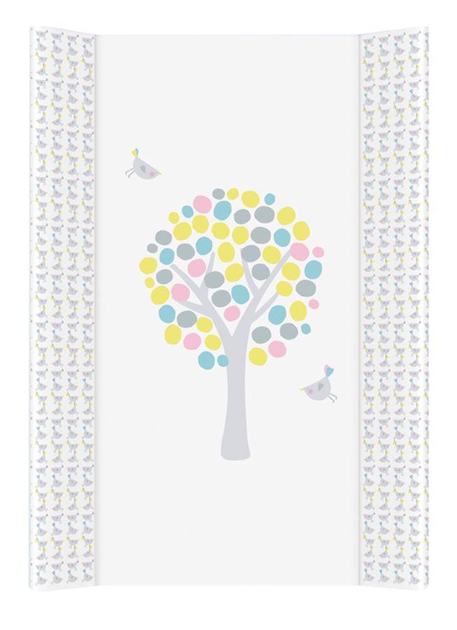 Tapicerka profilowana krótka, miękki przewijak na komodę 70x50 cm Ceba Baby Magiczne Drzewa różowy