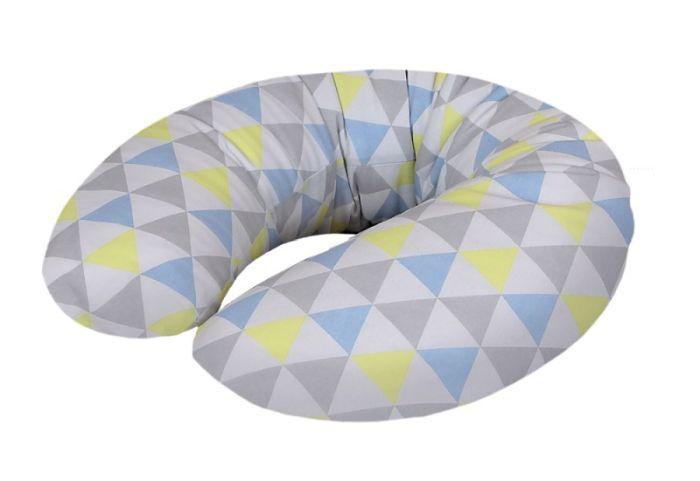 Cebuszka mini dżersej Ceba Baby poduszka do karmienia Trójkąty niebiesko żółte