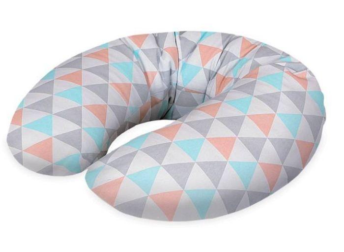 Cebuszka mini dżersej Ceba Baby poduszka do karmienia Trójkąty turkusowo pomarańczowe