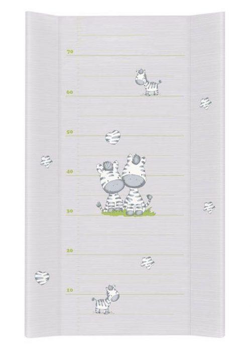 Nadstawka na łóżeczko 70x140 przewijak długi 80 cm Ceba Zebra szara
