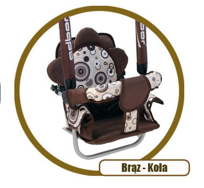 Super bezpieczna huśtawka Luna firmy Adbor dla dzieci do 20 kg_Brązowy koła