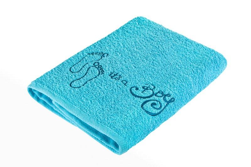Belisimaręcznik kąpielowy Maleństwo Turkusowy stopa