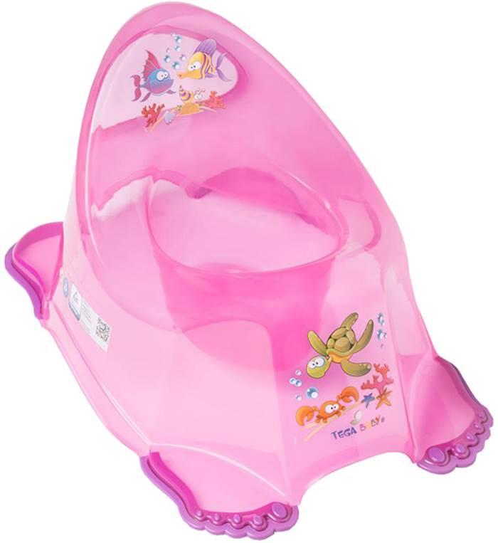 Nocnik antypoślizgowy Tega Baby Aqua Różowy