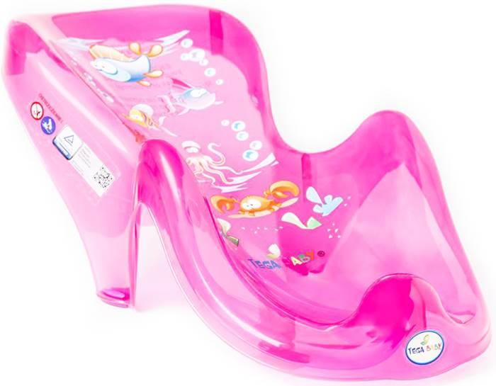 Anatomiczny fotelik do kąpieli dzieci i niemowląt Aqua Tega Baby Różowy