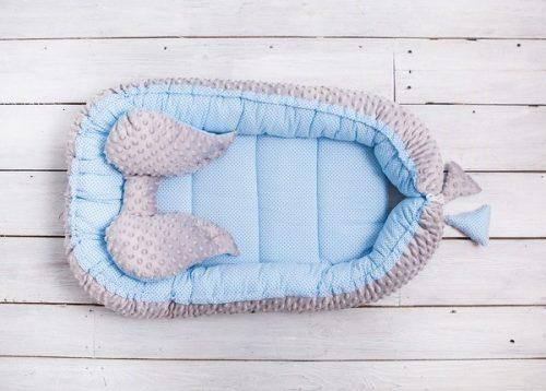 Belisima Kokon, otulacz, gniazdo niemowlęce Sweet Baby Minky Niebieski