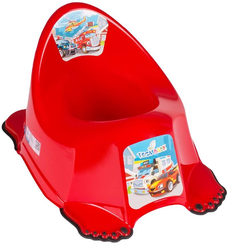 Nocnik antypoślizgowy dla dzieci Tega Baby kolekcja Auta Czerwony