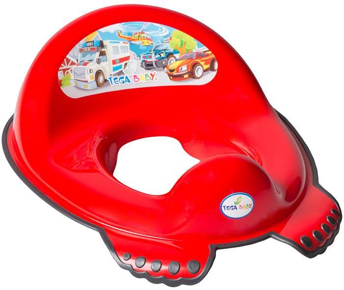 Nakładka na sedes antypoślizgowa dla dzieci Tega Baby Auta Czerwony