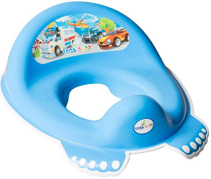 Nakładka na sedes antypoślizgowa dla dzieci Tega Baby Auta Niebieski