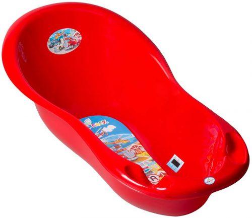 Duża wanienka dla niemowląt 102 cm Auta, Tega Czerwony