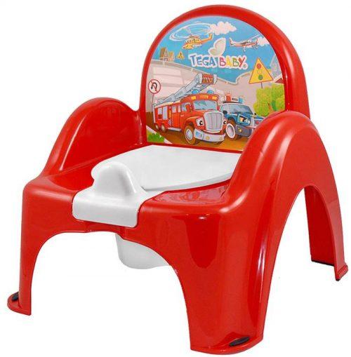 Nocnik krzesełko kolekcja Auta, Tega Baby Czerwony