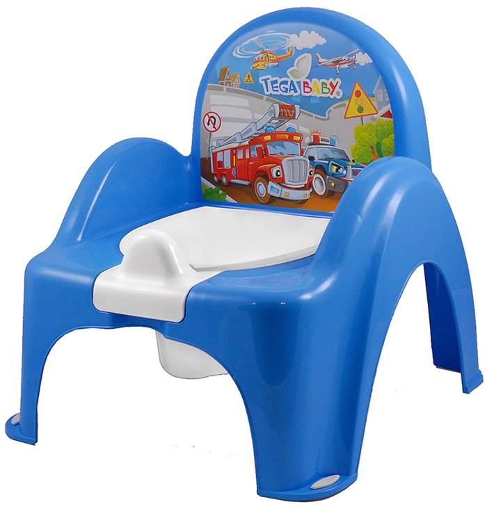 Nocnik krzesełko kolekcja Auta, Tega Baby Niebieski
