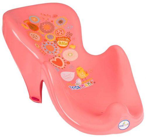 Fotelik do kąpieli leżaczek dla niemowląt Folk Tega Baby Brzoskwiniowy
