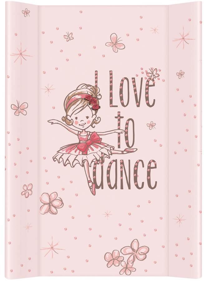 Nadstawka krótka bez zagłówka przewijak 70x50 cm Ceba Baby Tańcząca baletnica różowa