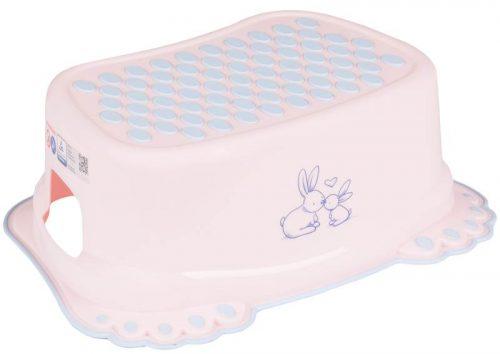 Podnóżek stopień bezpieczny Tega Baby antypoślizgowy Króliczek Różowy