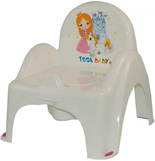 Nocnik krzesełko Księżniczka Tega Baby Biały