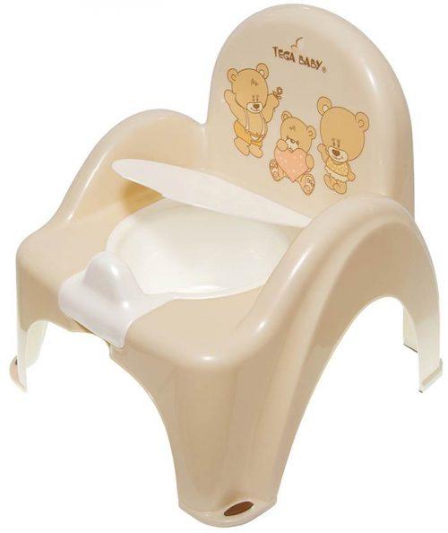Nocnik krzesełko Miś Tega Baby Beżowy