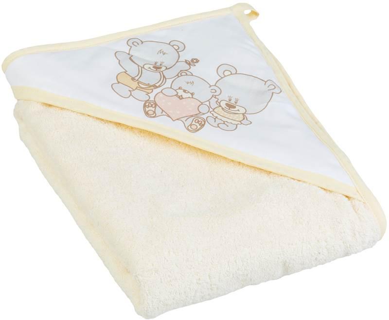 Okrycie kąpielowe bawełniane 100x100 cm Miś firmy Tega Baby Beżowy