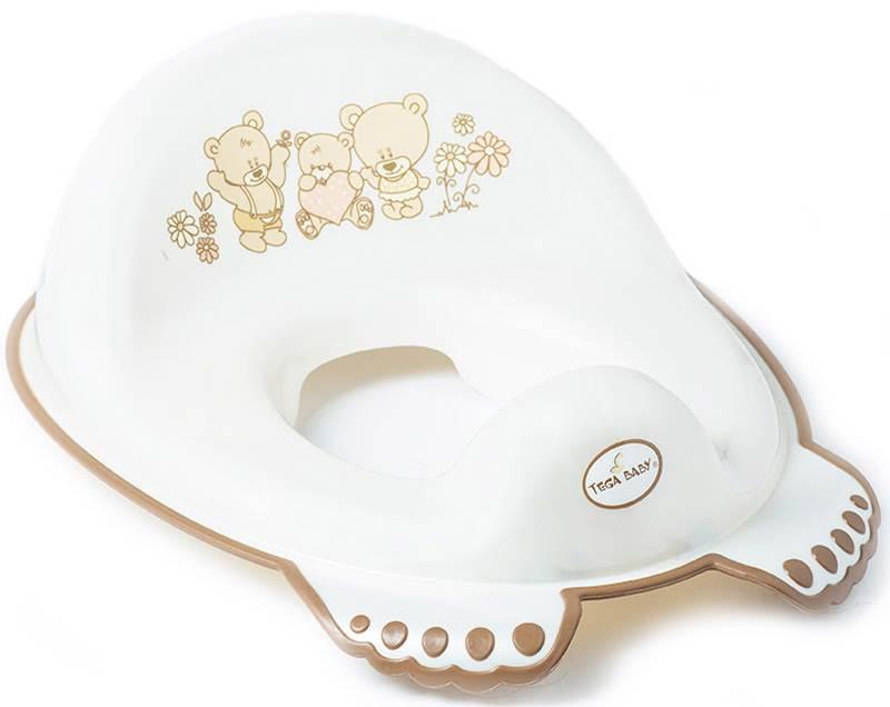 Nakładka antypoślizgowa na sedes wc dla dzieci Miś Tega Baby Perłowy