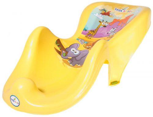 Fotelik do kąpieli Tega Baby z kolekcji Safari Żółty