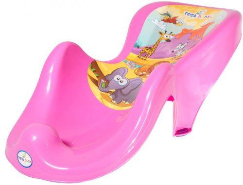 Fotelik do kąpieli Tega Baby z kolekcji Safari Różowy