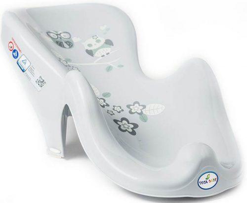 Fotelik do kąpieli antypoślizgowy Sowy Tega Baby Szary