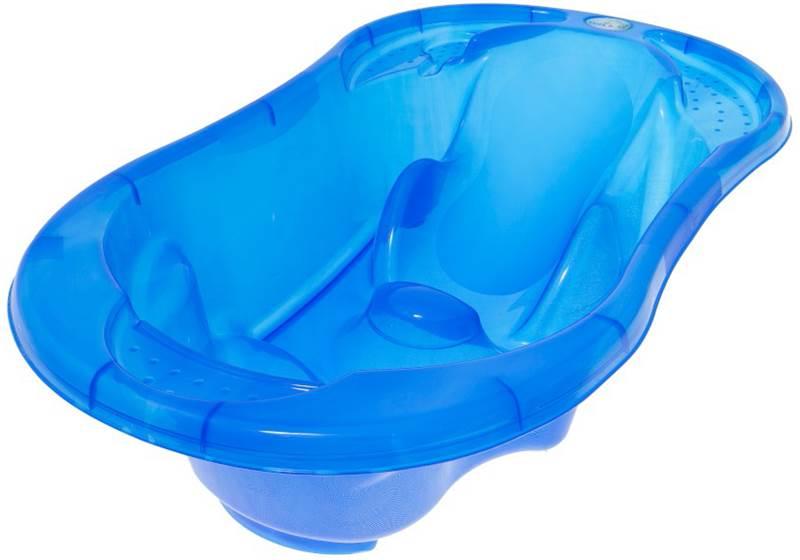Transparentna anatomiczna wanienka dla dzieci i niemowląt Komfort Tega Baby Niebieski