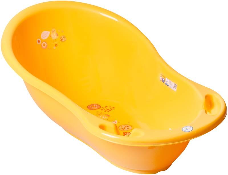 Wanienka mała 86 cm z odpływem i termometrem Folk, Tega Żółty