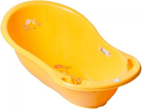 Duża plastikowa wanienka dla dzieci i niemowląt 102cm Tega Baby kolekcja Folk Żółta