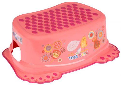 Stopień antypoślizgowy dla  dzieci do łazienki Tega Baby Folk Brzoskwiniowy