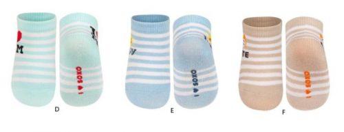 Skarpety cienkie SOXO z napisami z ABS 16-18 (0-12 miesięcy)