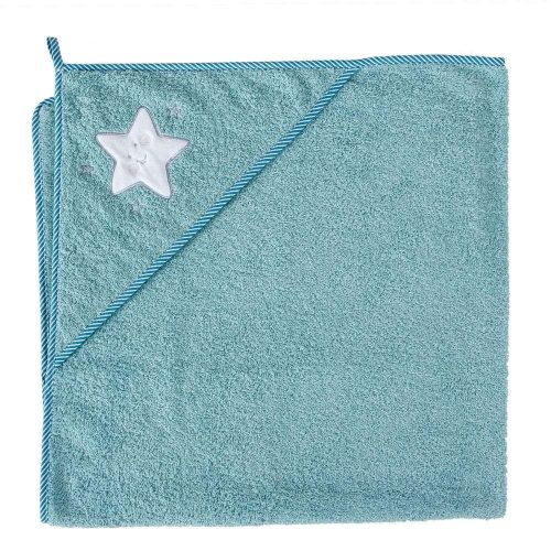 Okrycie kąpielowe z kapturkiem 100x100 cm ręcznik frotte Ceba Baby Gwiazdka morska
