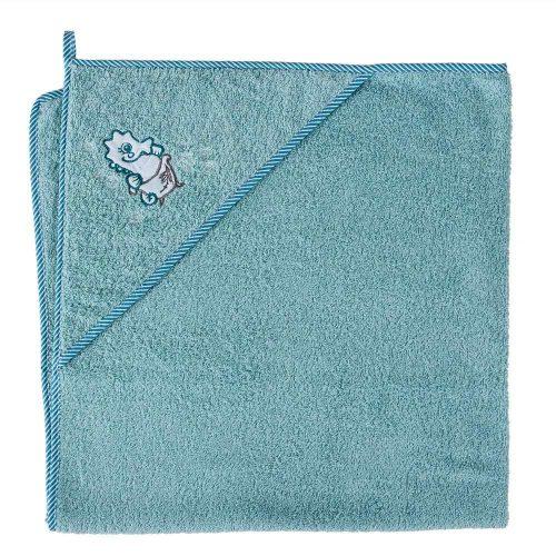 Okrycie kąpielowe z kapturkiem 100x100 cm ręcznik frotte Ceba Baby Konik moeski