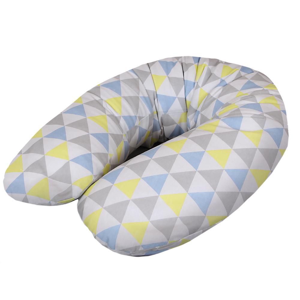 Wielofunkcyjna poduszka do karmienia Physio Multi Dżersej, Ceba Trójkąty niebiesko-żółte