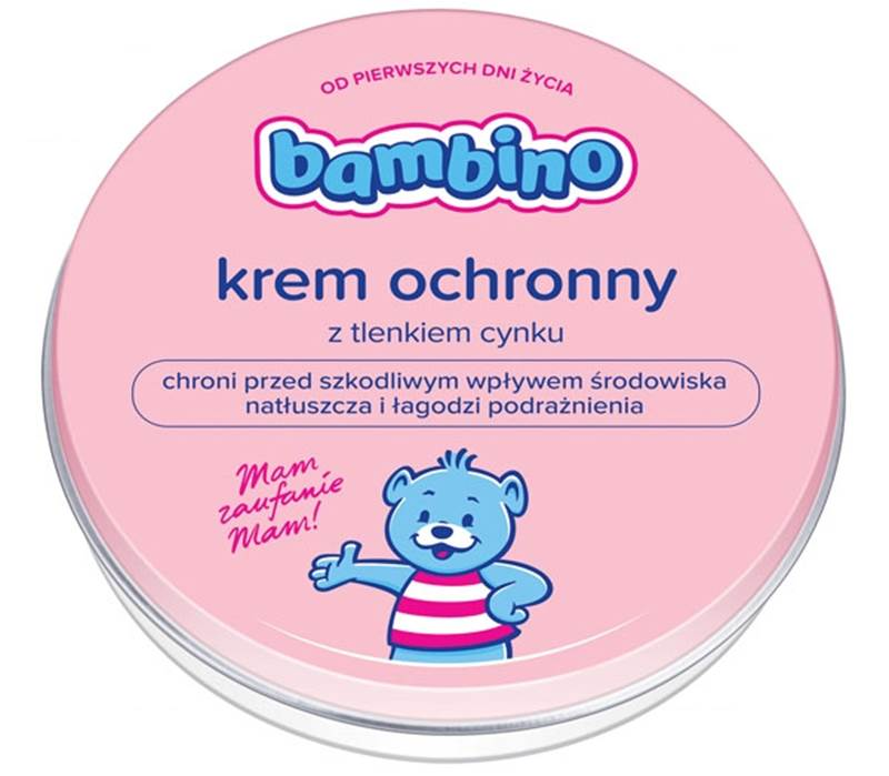 Krem ochronny z tlenkiem cynku Bambino pielęgnacja wrażliwej skóry niemowląt 75 g