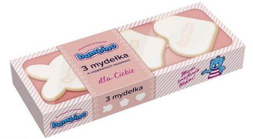 Mydełka dla niemowląt 3 sztuki różowe Bambino