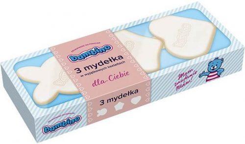 Mydełka dla niemowląt 3 sztuki niebieskie Bambino