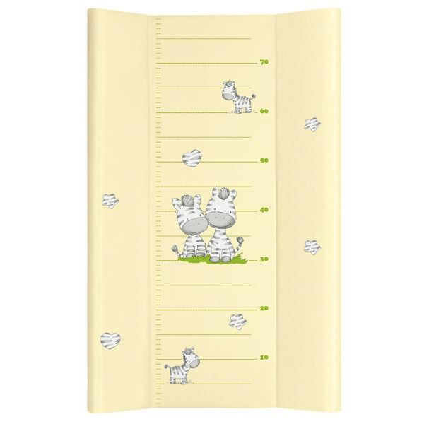 Tapicerka profilowana krótka, miękki przewijak na komodę 70x50 cm Ceba Baby Huśtawka żółta