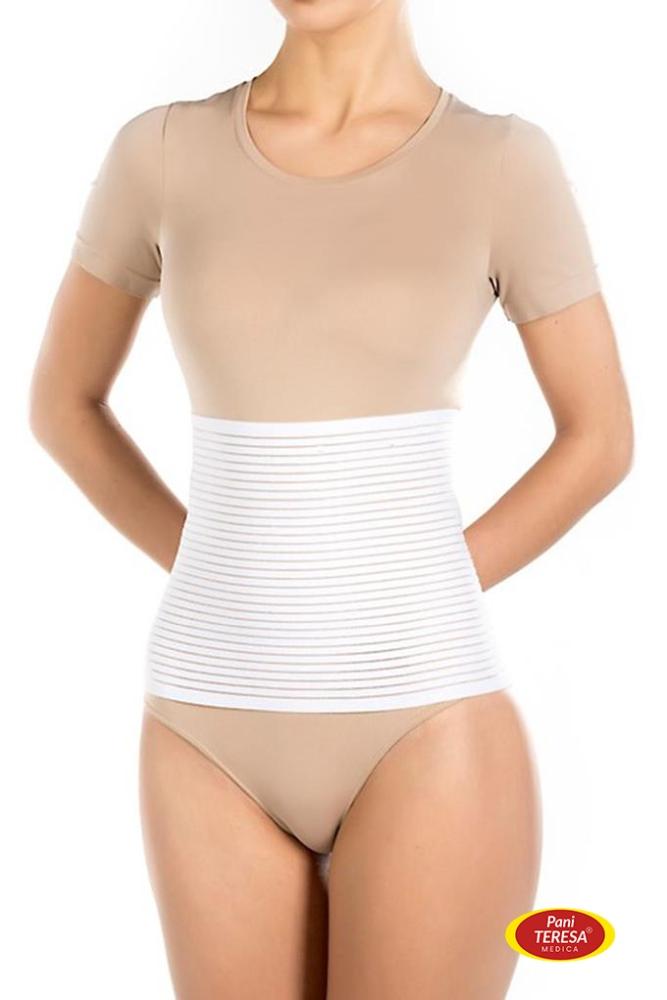 Pani Teresa Poporodowy pas brzuszny - wzmacnia brzuch po porodzie rozmiar XXL kolor Biały