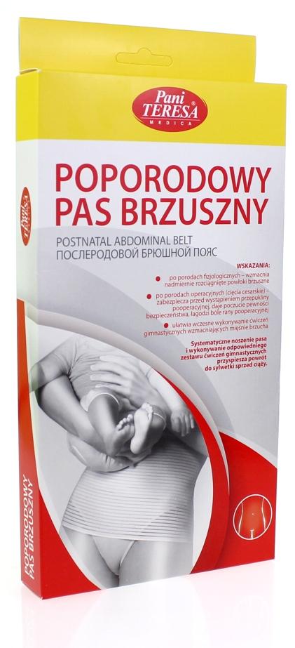 Pani Teresa Poporodowy pas brzuszny - wzmacnia brzuch po porodzie rozmiar XL kolor Cielisty