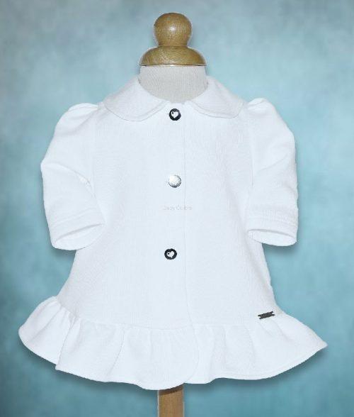 Ubranie do chrztu Płaszczyk Rosa 62 Biały