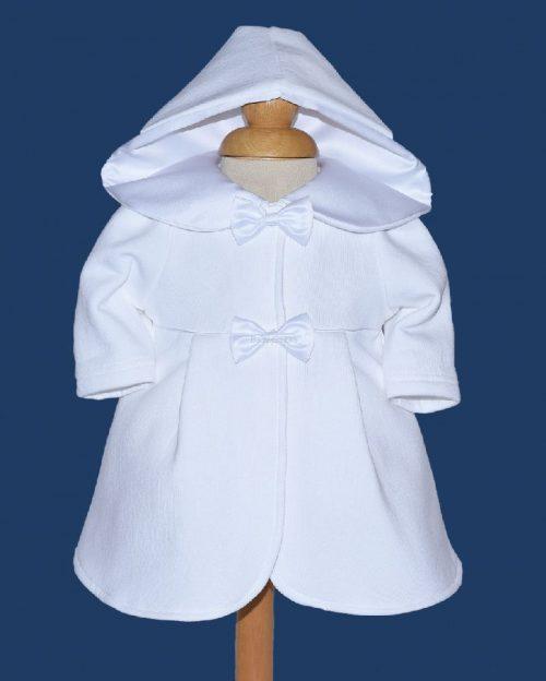 Ubranie do chrztu Pelerynka Sandra 62 biały