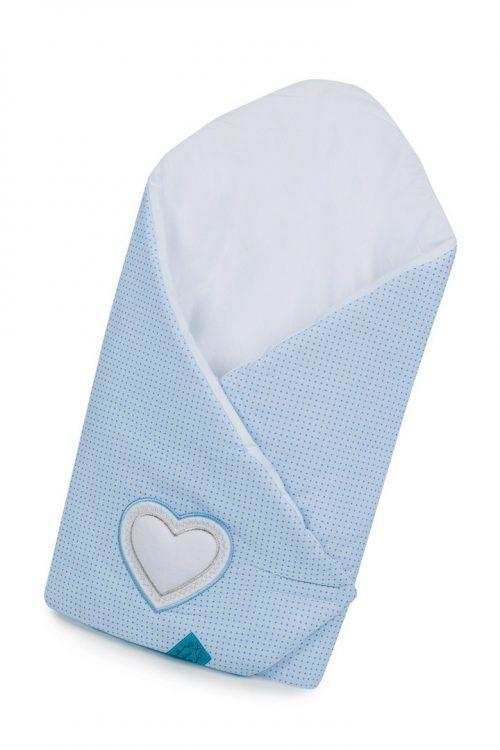 Belisima rożek niemowlęcy 3 Serca niebieski