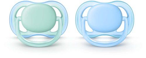Smoczki uspokajające dla wrażliwej skóry Avent Ultra Air 0-6 m SCF244/20