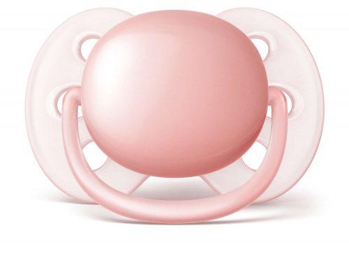 Wyjątkowo miękki smoczek uspokajający dla delikatnej skóry dziecka Avent Ultra Soft 0-6 m SCF213/20