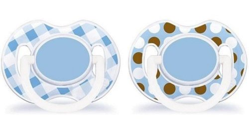 Symetryczne smoczki uspokajające 0-6 m Fashion Avent SCF176/01