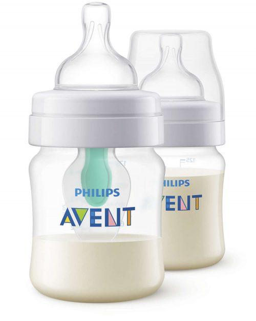 Butelki antykolkowe Avent z nakładką AirFree 125 ml opakowanie 2 szt SCF810/24